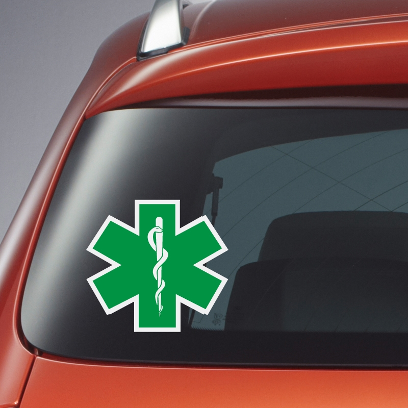 sticker star of life groen