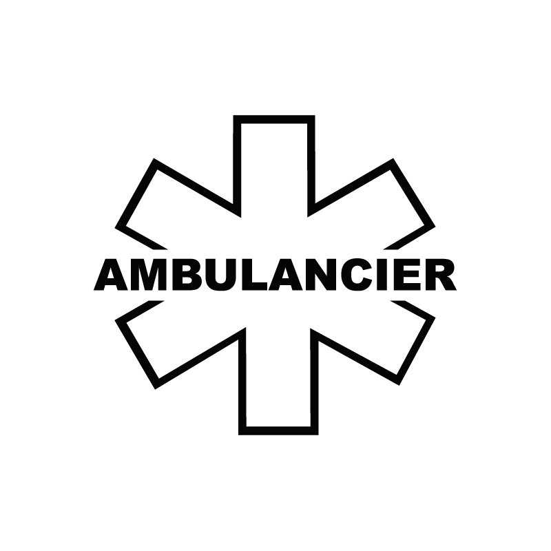 Sticker ambulancier 2